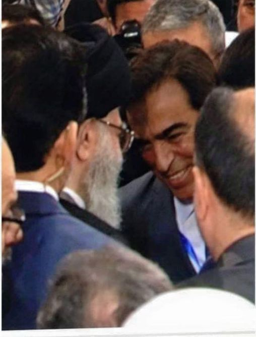 المذيع النصراني المشهور جورج قرداح مع الزنديق علي خامنئي